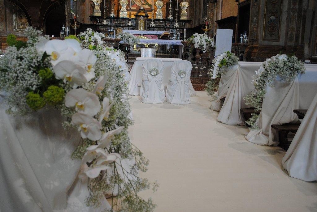 Preferenza Fiorista per matrimonio in chiesa sul Lago Maggiore BO58