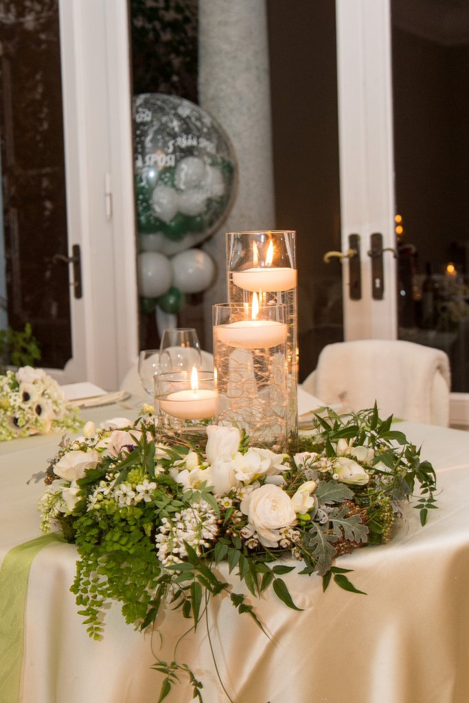 Centrotavola per matrimoni addobbi floreali per for Addobbi tavoli matrimonio con candele