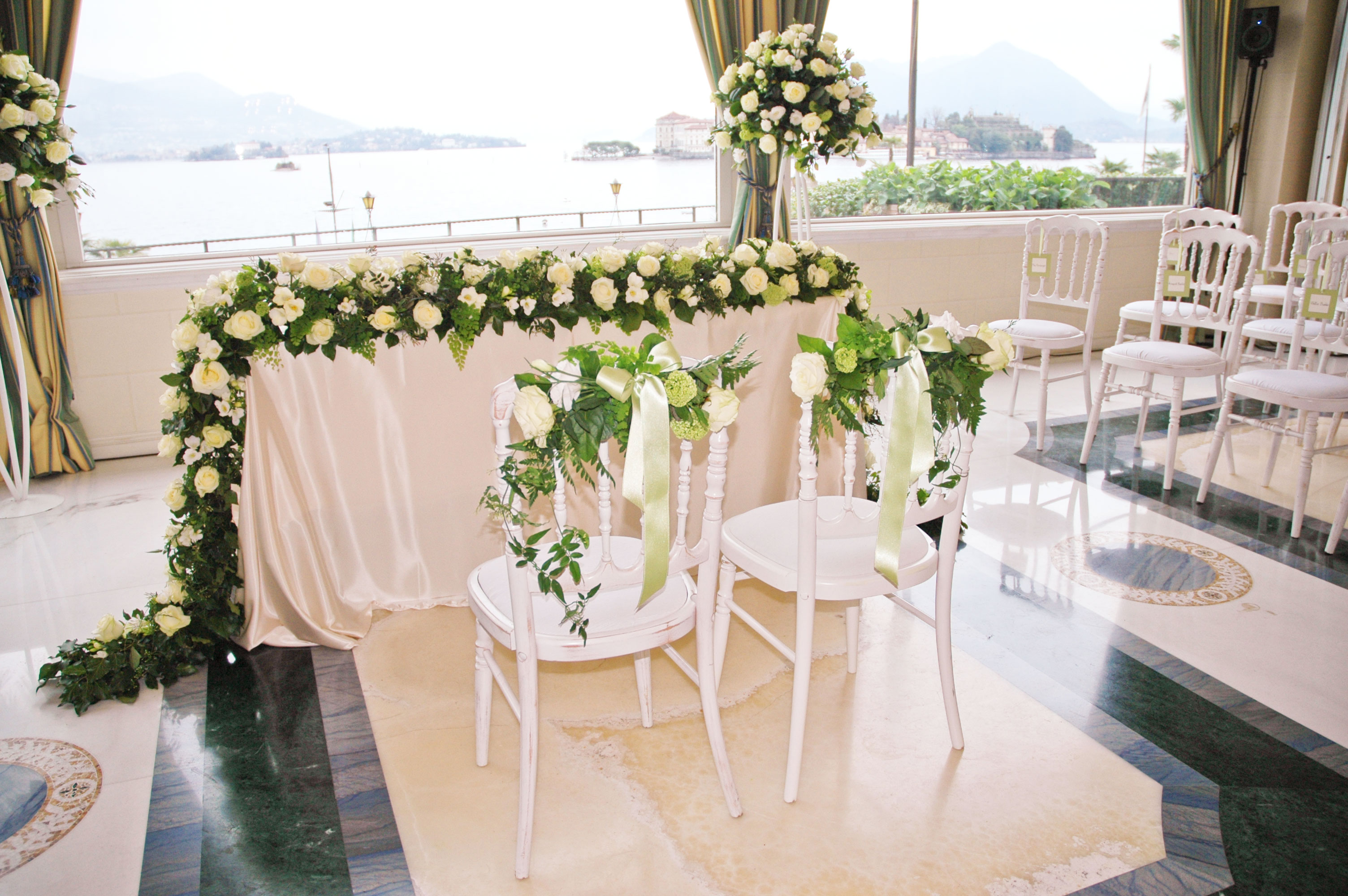Civil Wedding Decoration Ideas: Floral Decorations For Civil Weddings On Lake Maggiore, Italy