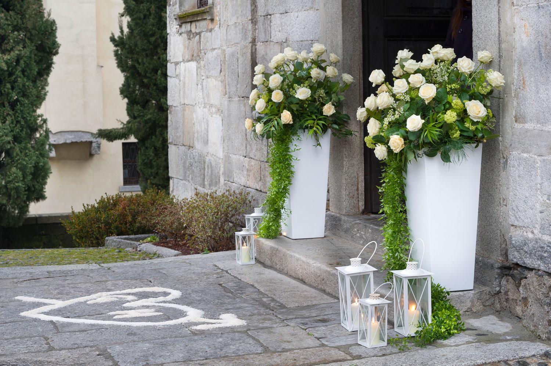 Amato Fiorista per matrimonio in chiesa sul Lago Maggiore KW74