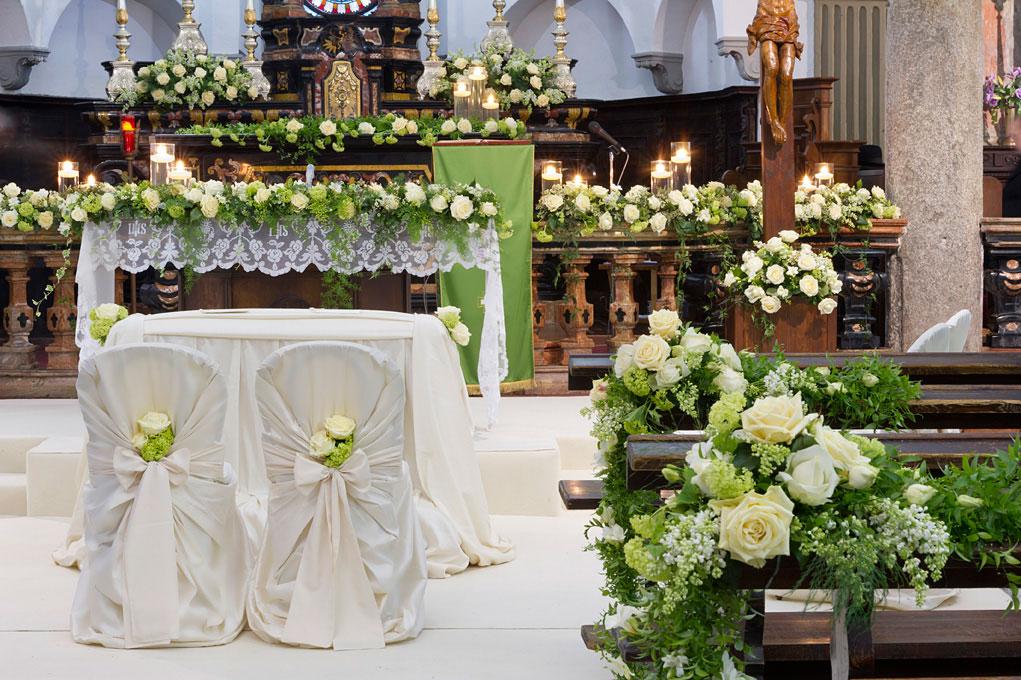 abbastanza Fiorista per matrimonio in chiesa sul Lago Maggiore JQ56